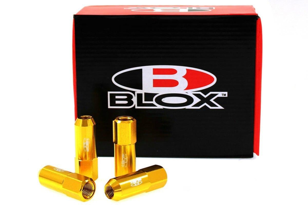 Nakrętki Blox Replica 60mm M12x1.25 Gold - GRUBYGARAGE - Sklep Tuningowy
